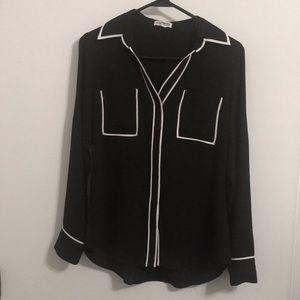 Express Black and White Portofino top